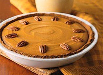 Tarte à la citrouille sur biscuits au gingembre