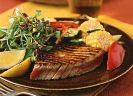 Thon grillé et ses légumes en papillotes