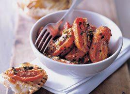 Tomates confites à l'ail et aux herbes