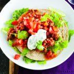Salade mexicaine au boeuf et à la tostada