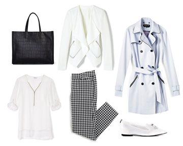 Ponctuez des tenues presque totalement blanches