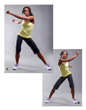 1. Rotation de hanches en suivant la musique