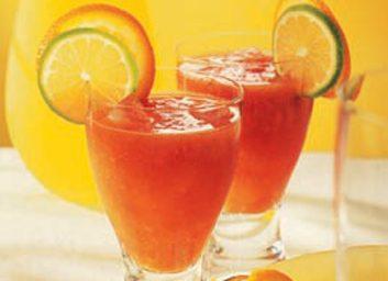 Vermillon d'orange et tomate
