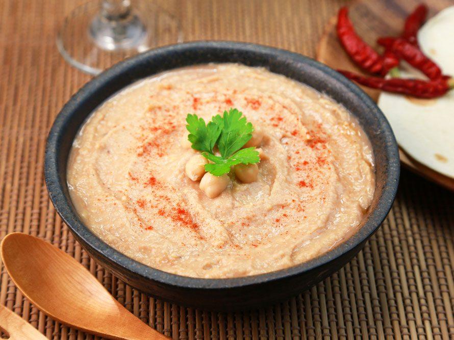 Collation à moins de 100 calories : hummus
