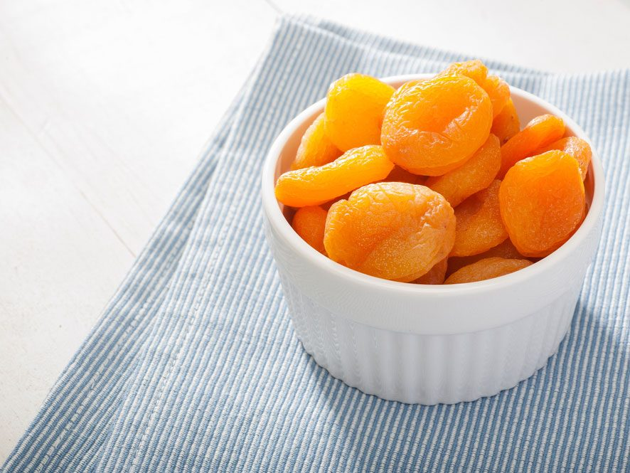 Collation à moins de 100 calories : abricots secs