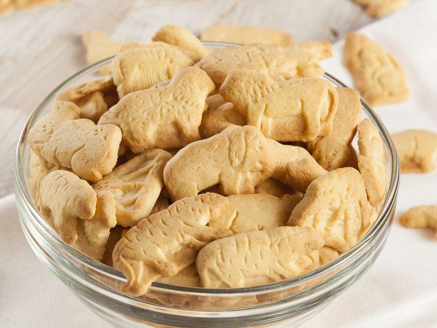 Collation à moins de 100 calories : biscuits animaux