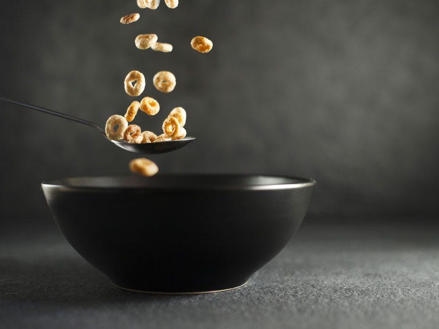 Collation à moins de 100 calories : cheerios et lait