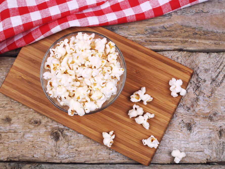 Collation à moins de 100 calories : maïs soufflé