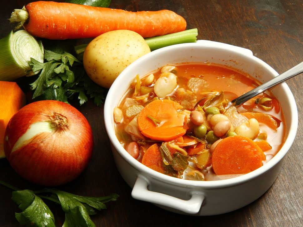 Collation à moins de 100 calories : minestrone
