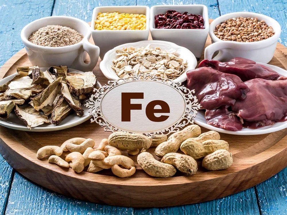Les aliments riches en fer font partie des aliments qui donnent de l'énergie.