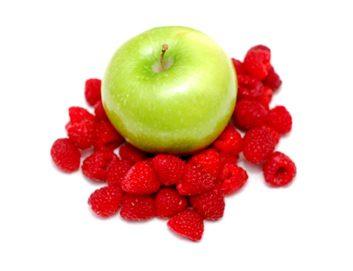 Pommes et framboises