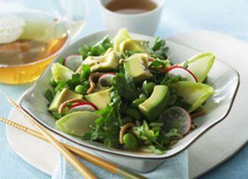 Salades et bons gras