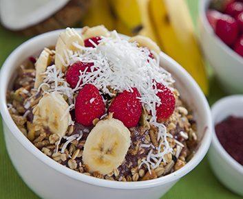 Granola à la banane et noix de coco