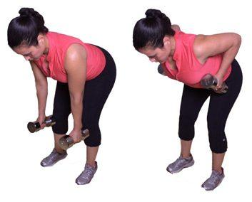2. Traction du bras: tronc incliné