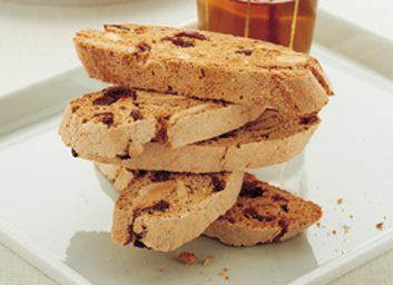 Biscottis aux canneberges et amandes