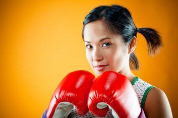 4. La boxe peut vous aider à vous défendre.