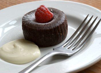 Brownie choco-framboise