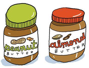 Le classique: le beurre d'arachide. La nouveauté: le beurre d'amande
