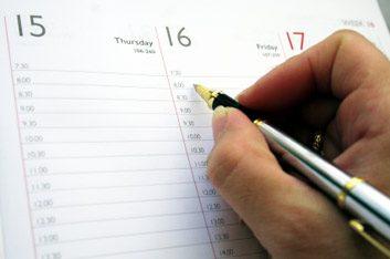 Pour vous simplifier la vie: planifiez vos rendez-vous