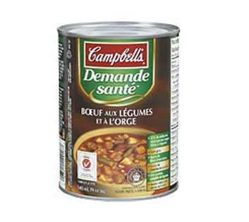 Demande Santé Boeuf et légumes à l'orge de Campbell's