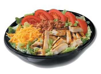 Salade BLT avec poulet grillé sur le feu de Burger King