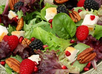 Salade à la dinde, aux raisins et aux pacanes
