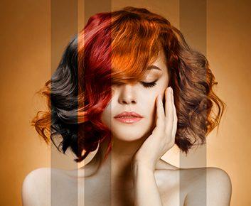 Teinture a cheveux en special