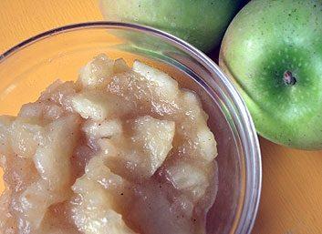 Compote de pommes et biscuit Thé Social