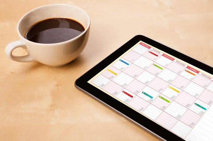 11. Vérifiez votre calendrier du matin