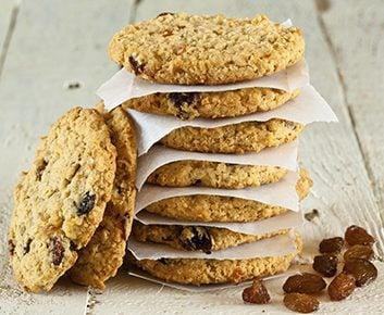 Biscuits avoine et raisins secs