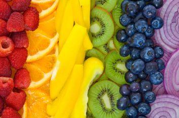 1. Regardez votre petit-déjeuner; de quelle couleur est le tableau qu'il compose?