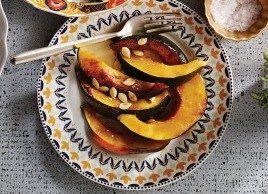 Courge poivrée, glacée au garam masala