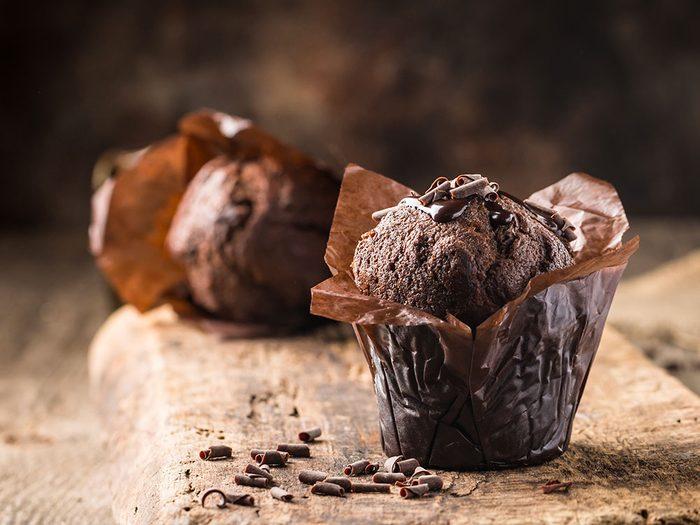 Un muffin du commerce, l'un des pires aliments pour un déjeuner santé.