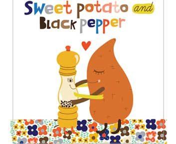 Patate douce + poivre noir