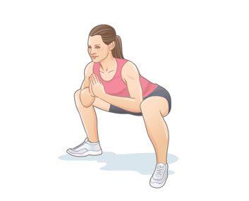 L'étirement  « squat sumo »