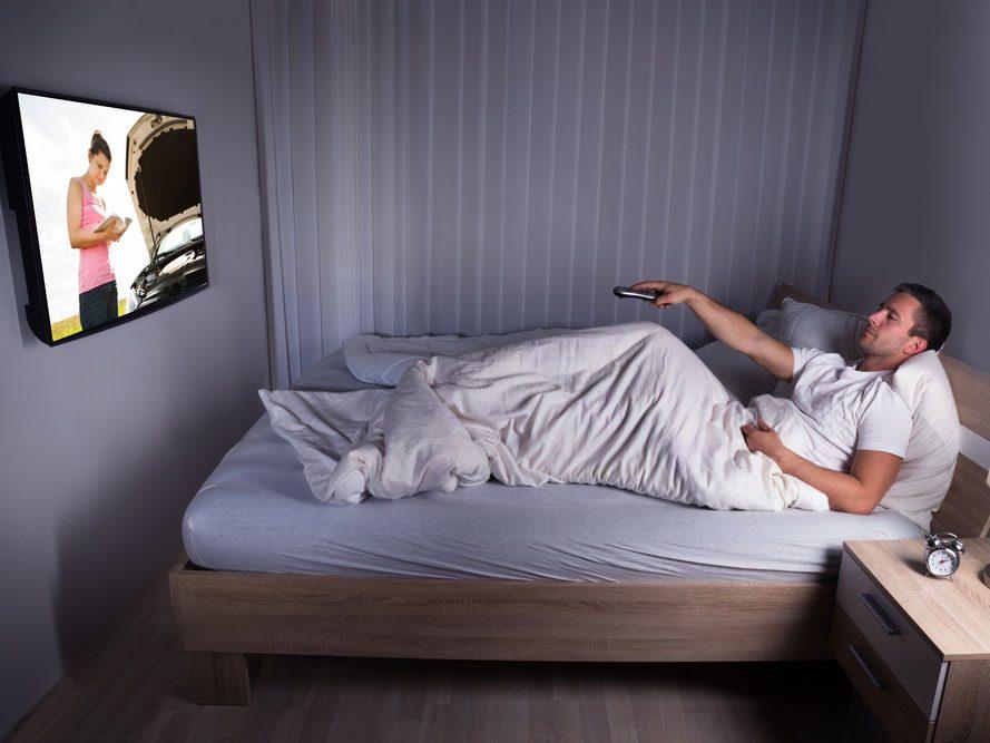Éviter la télé dans la chambre