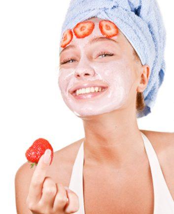 Masque aux fraises