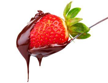 Fraises trempées dans le chocolat