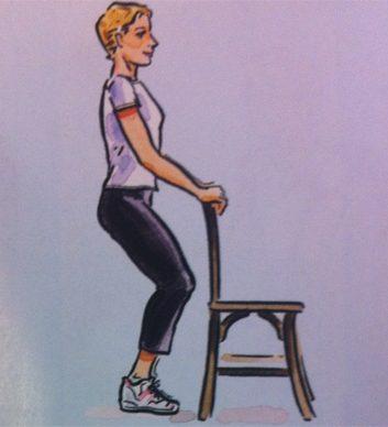 Exercice no. 5: Genoux pliés