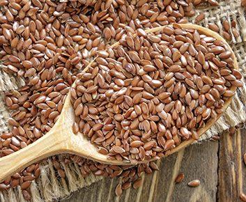 Des graines de lin à saupoudrer