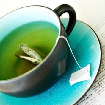 Thé vert et jus de citron