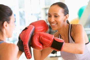 3. La boxe peut diminuer votre stress.