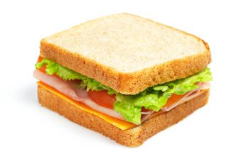 Le sandwich au jambon