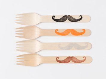 Fourchettes en bois à moustaches de Sucre Shop