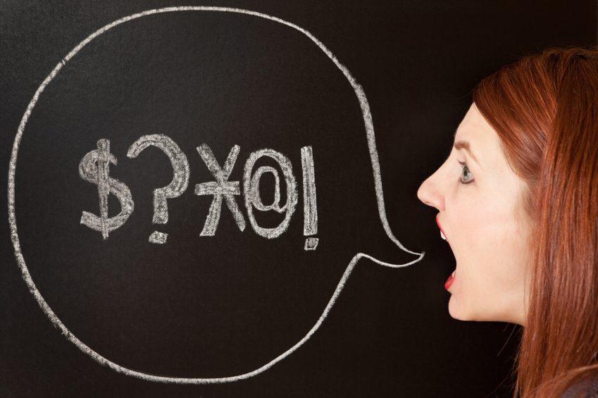 5. Échapper des gros mots est bon pour la santé