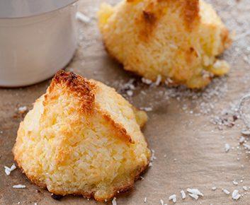 Macarons sans gluten à la noix de coco