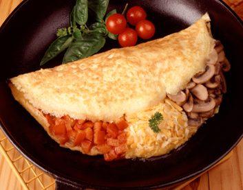 Omelette au blanc d'œuf ou au substitut d'œuf
