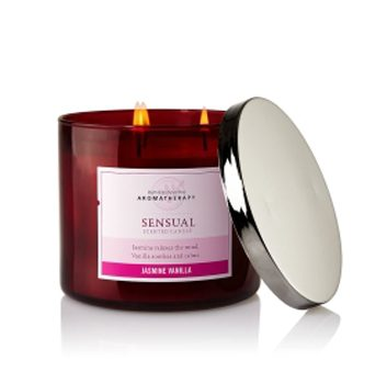 Chandelle parfumée Jasmin Vanille de Bath & Body Works Aromatherapy