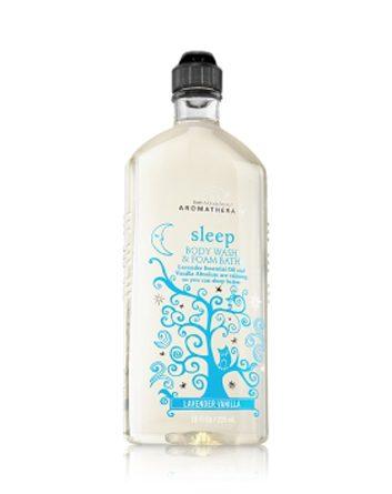 Gel pour le corps et bain moussant Sommeil Vanille lavande de Bath & Body Works Aromatherapy