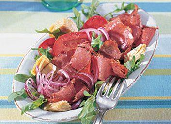 Entrée de tomate et de pancetta